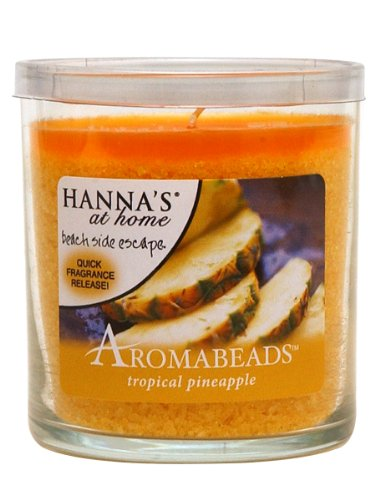 Hanna's At Home AROMABEADS Tropical Pineapple 5.5oz Candle