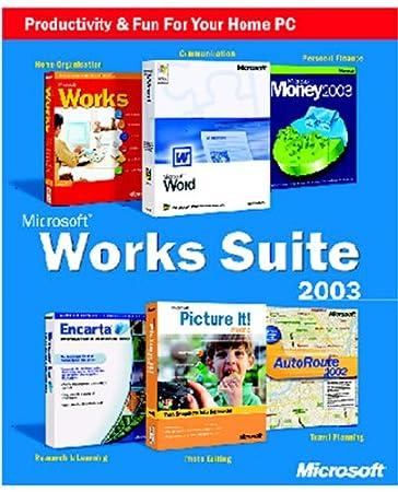 Works Suite 2003 CD (Word, Money, AutoRoute, Encarta, Picture It, Works)