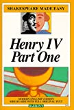 Henry IV, Part 1 (Shakespeare Made Easy) (0812035852) by William Shakespeare