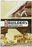 Clif Bar Builder's Bar, Vanilla Almond, 2.4-Ounce Bars, 12 Count