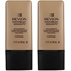 (TWO PACK) Revlon Photoready Skinlights Face Illuminator, 100 Bare Light, 1.0 fl. oz.