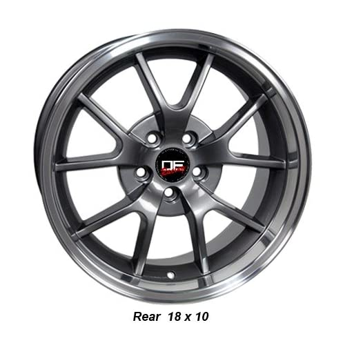 (4) SALEEN STYLE FORD MUSTANG FR500 18 INCH WHEELS RIMS