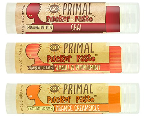 Primal-Pucker-Paste-3-Pack-Natural-Lip-Balm-with-Beeswax-and-Shea-Butter-Vanilla-Peppermint-Orange-Creamsicle-and-Chai