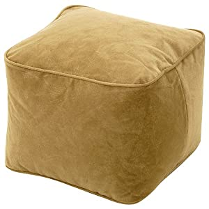 bean bag chair size small color buff home kitchen. Black Bedroom Furniture Sets. Home Design Ideas