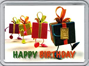"1g Goldbarren 999,9 Feingold in Motivbox ""Happy Birthday"""