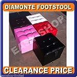 Cube Faux Leather Ottoman Pouffe Foot...