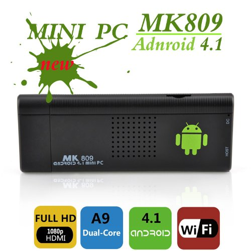 streaming media player with wi fi: Mk809 Mini Android TV Dongle