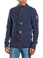 PAUL STRAGAS Chaqueta Punto Zip Cardigan (Azul Marino)