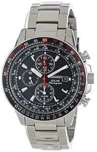 精工计时表Seiko Men's SSC007 Alarm Chronograph Watch$172.45