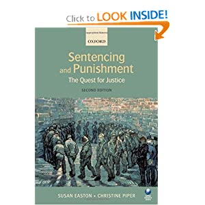 Sentencing and Punishment: The Quest for Justice  by Susan Easton