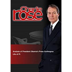 Charlie Rose - Analysis of President Obama's Press Conference / Life of Pi (November 14, 2012)