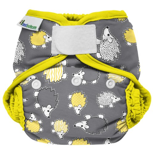 Best Bottom Cloth Diaper Shell-Hook and Loop, Hedgehog - 1