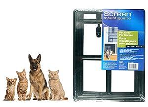 Pet Leso® Dog Puppy Cat Door Gate Way For Screen Window