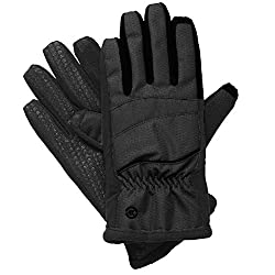 Isotoner SmarTouch Women's Matrix Nylon ThermalFlex Lined Gloves, Black, XL