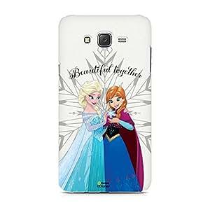 Hamee Disney Princess Frozen Official Licensed Designer Cover Hard Back Case for Samsung Galaxy On7 (Elsa Anna / Beautiful)