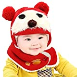 FEITONG Lovely Cute Winter Warm Woolen Coif Baby Girls Boys Hood Scarf Caps Hats