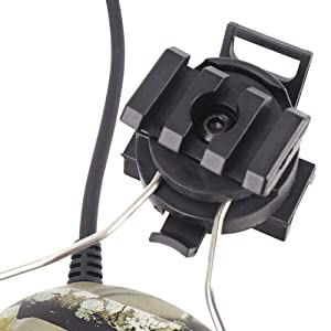 Womdee Tactical Headset, Electronic Shooting Earmuff Aviation Headset, Ear Protection Noise Reduction Sound Amplification Ear Muffs for Fast Helmets and Peltor Helmet Rail Adapter Set (Color: Color 4)