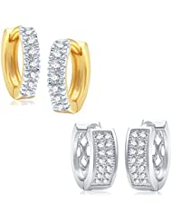 VK Jewels Pleasing Gold And Rhodium Plated Alloy Earrings Combo For Women & Girls - COMBO1299G [VKCOMBO1299G]