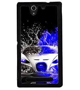 Printvisa Dual Colored Convertible Splashing Water Back Case Cover for Sony Xperia C3 Dual D2502::Sony Xperia C3 D2533