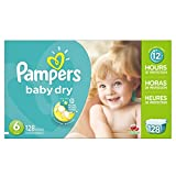 Pampers Baby Dry Diapers Economy Pack Plus, Size 6, 128 Count (One Month Supply)