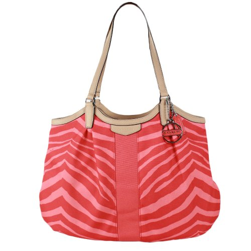 Coach   Coach Devin Women's Tote Handbag Zebra Stripe Orange