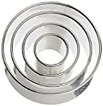 Ateco 4 Piece Stainless Steel Round C...