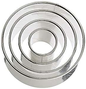 Ateco 4 Piece Stainless Steel Round Cutter Set