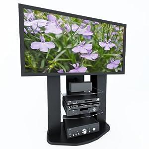 sonax zurich vertical 65 inch tv stand with mount home kitchen. Black Bedroom Furniture Sets. Home Design Ideas