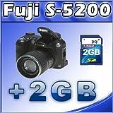 Fujifilm Finepix S5200 5.1MP Digital Camera with 10x Optical Zoom + 2GB SD Card