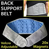 "Magnetic Support Belt - CHOOSE Your Size! - 20x High Quality Magnets for Pain Support and Relief (Large 41"" - 50"")by GreatIdeas"