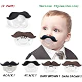 (2 PACK) The Best Mustache Pacifier For Baby With High Quality - A Funny Toys And Good Night's Sleep With Cute Pacifier For Newborn, Toddler, Boys And Girls - Ideal Gift For Your Lovely Baby