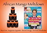 African Mango Meltdown | 6 Pack | Raspberry Ketones | Fat Burner | Appetite Suppressant | As seen in Dr. Oz's first for women article