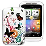 V9 JOIE Series Flora Gel Case For HTC Wildfire S + Screen Protector
