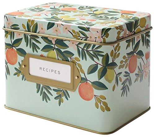 Rifle Paper Co. Recipe Box - Citrus Floral (The Tin Box Co compare prices)
