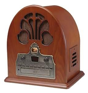 レトロアンティーク CR32 大聖堂 CDプレーヤー・ラジオ Crosley社【並行輸入】