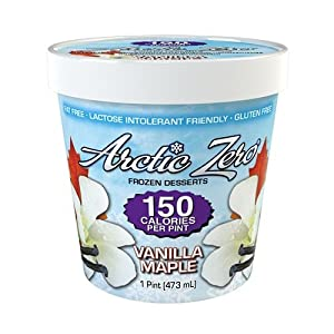 Arctic Zero Maple Vanilla 150 Calories Per Pint Frozen Dessert (Pack of 6)