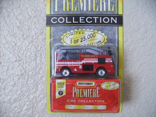 Matchbox Richfield Co. Snorkel Fire Truck Premiere Edition Series 7