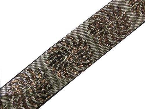 4.5 Yd Dress Embellishment Antique Gold Jacquard Border Ribbon Trim Sewing