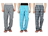 Orange and Orchid Men's Cotton Woven Pyjama Night pant - Pack of 3
