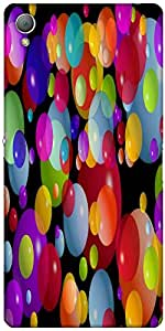 Snoogg Colorful Bubbles 2606 Case Cover For Sony Xperia Z3