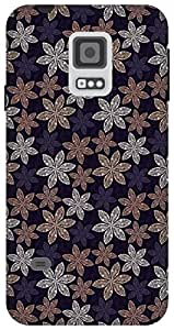 The Racoon Grip Cream Pecular Petals hard plastic printed back case / cover for Samsung Galaxy S5 Mini