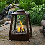Real Flame Sierra Outdoor Fireplace, copper