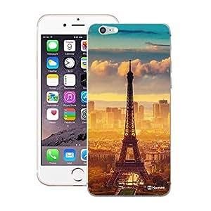 Customizable Hamee Original Designer Cover Thin Fit Crystal Clear Plastic Hard Back Case for Apple iPhone 5 / 5s / SE / 5SE (Orange Blue Eiffel Tower)
