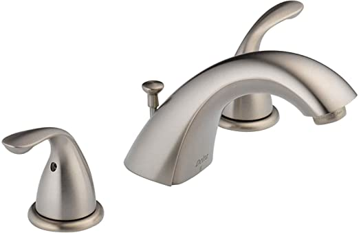 Delta Faucet 3530LF-SSMPU Classic Two Handle Widespread Lavatory Faucet, Stainless