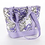 Anna Quilted Lunch Tote (Purple Animal)