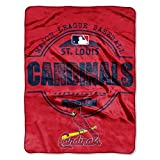 MLB St. Louis Cardinals Structure Micro-Raschel Throw, Red, 46 x 60-Inch