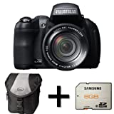 Fujifilm FinePix HS30EXR + Case and 8GB Memory Card (16MP EXR-CMOS Sensor, 30x Manual Optical Zoom) 3 inch Tiltable LCD Screen