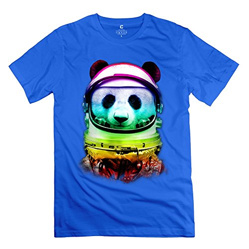 Jiuzhou Men's Tshirts Space Panda L RoyalBlue (Kendama Space compare prices)