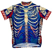 "Primal Bone Collector Cycling Jersey-comes with free DeFeet socks ALL SIZES, Large-fits 40"" to 42"" chest"