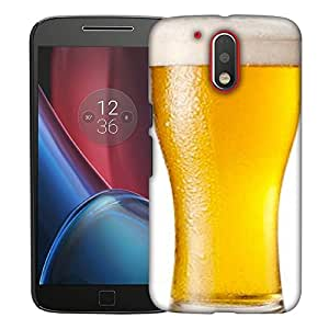 Snoogg Beer Filled In Glass Designer Protective Back Case Cover For MOTO G4 PLUS